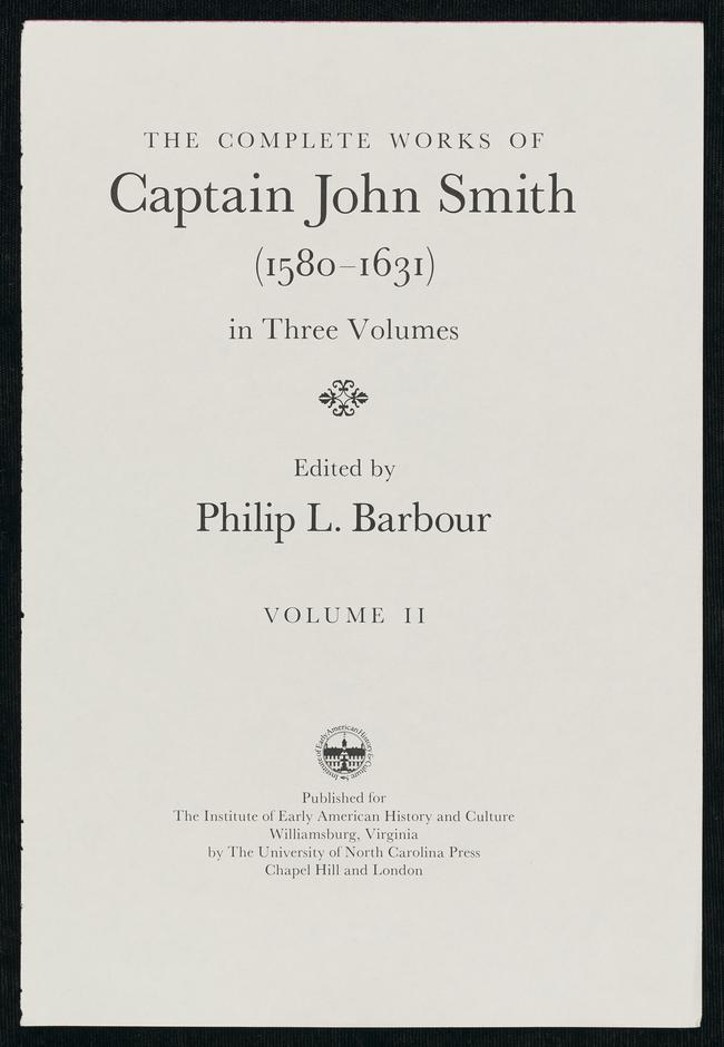 The Complete Works Of Captain John Smith Vol 2 The Complete Works