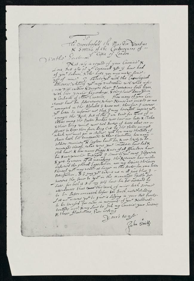 John smith powhatan thesis